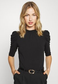ONLY - ONLLIVE LOVE SCARLETT - Long sleeved top - black - 0