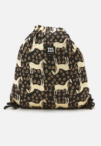 Marimekko - SMARTSACK MUSTA TAMMA BAG - Across body bag - black/beige/orange - 0