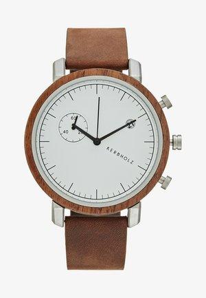 FRANZ - Chronograph watch - walnut/tobacco