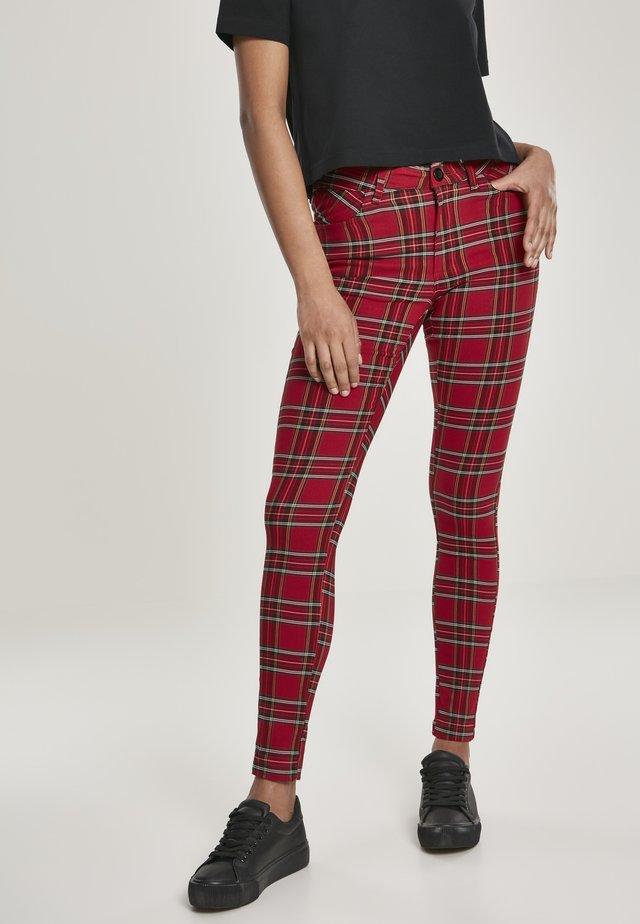 Pantalon classique - red/blk