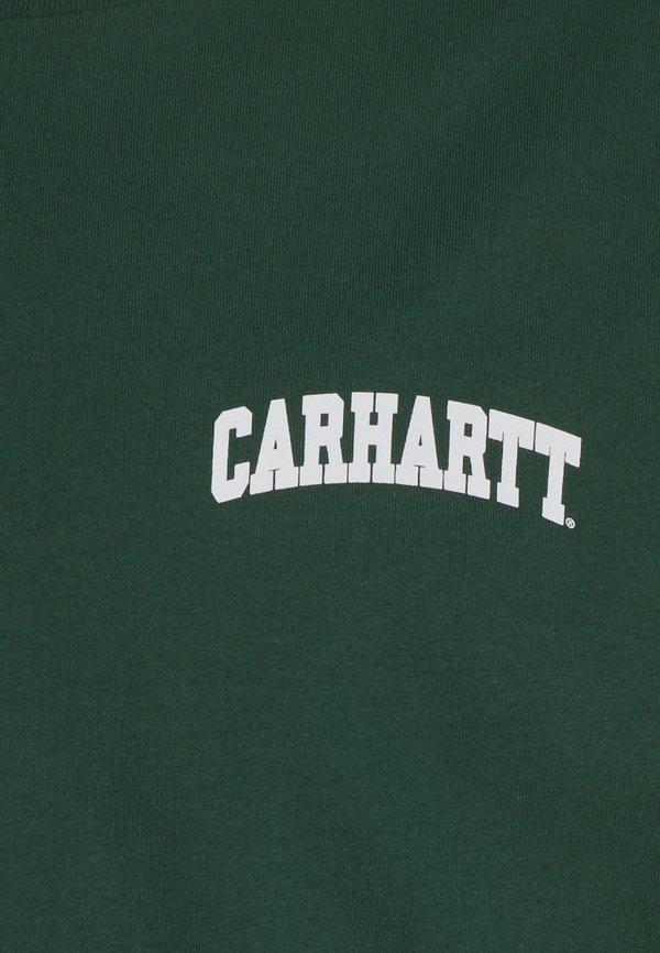 Carhartt WIP UNIVERSITY SCRIPT - T-shirt z nadrukiem - treehouse/white/zielony Odzież Męska CXMO