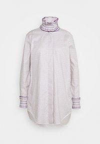 Victoria Beckham - RUFFLE  - Button-down blouse - ecru/purple - 6