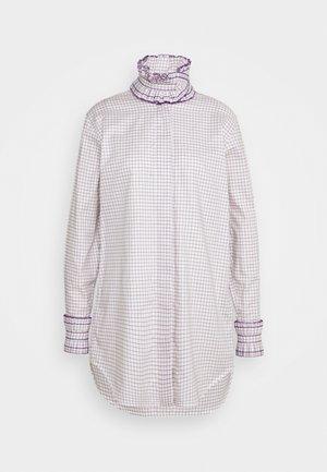 RUFFLE  - Button-down blouse - ecru/purple
