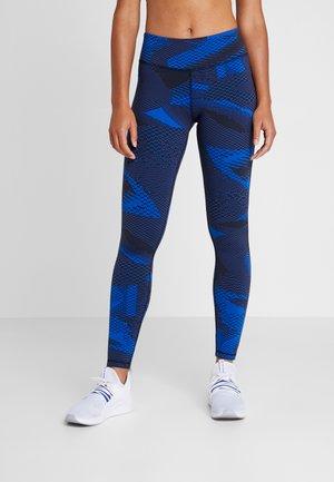 LUX GEO - Leggings - blue