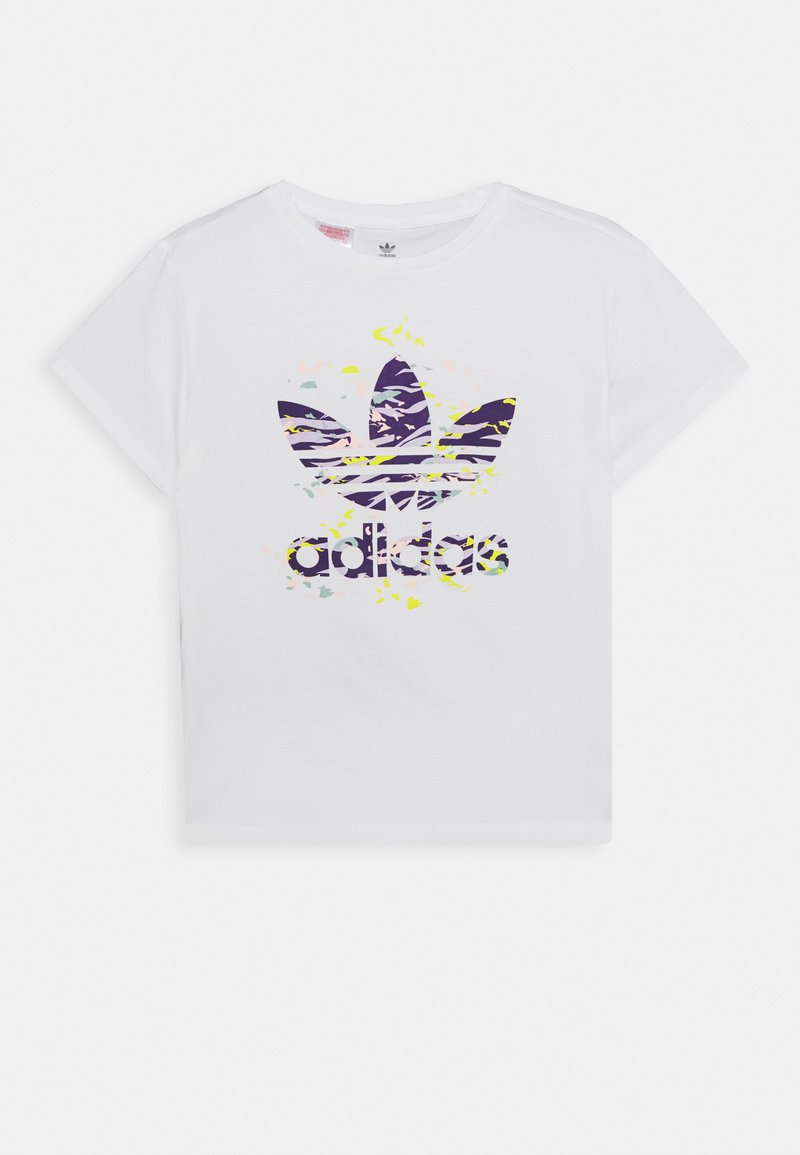 adidas Originals - TREFOIL TEE - Camiseta estampada - white/multicolor