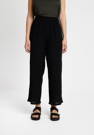 LULA TROUSERS - Tygbyxor - black