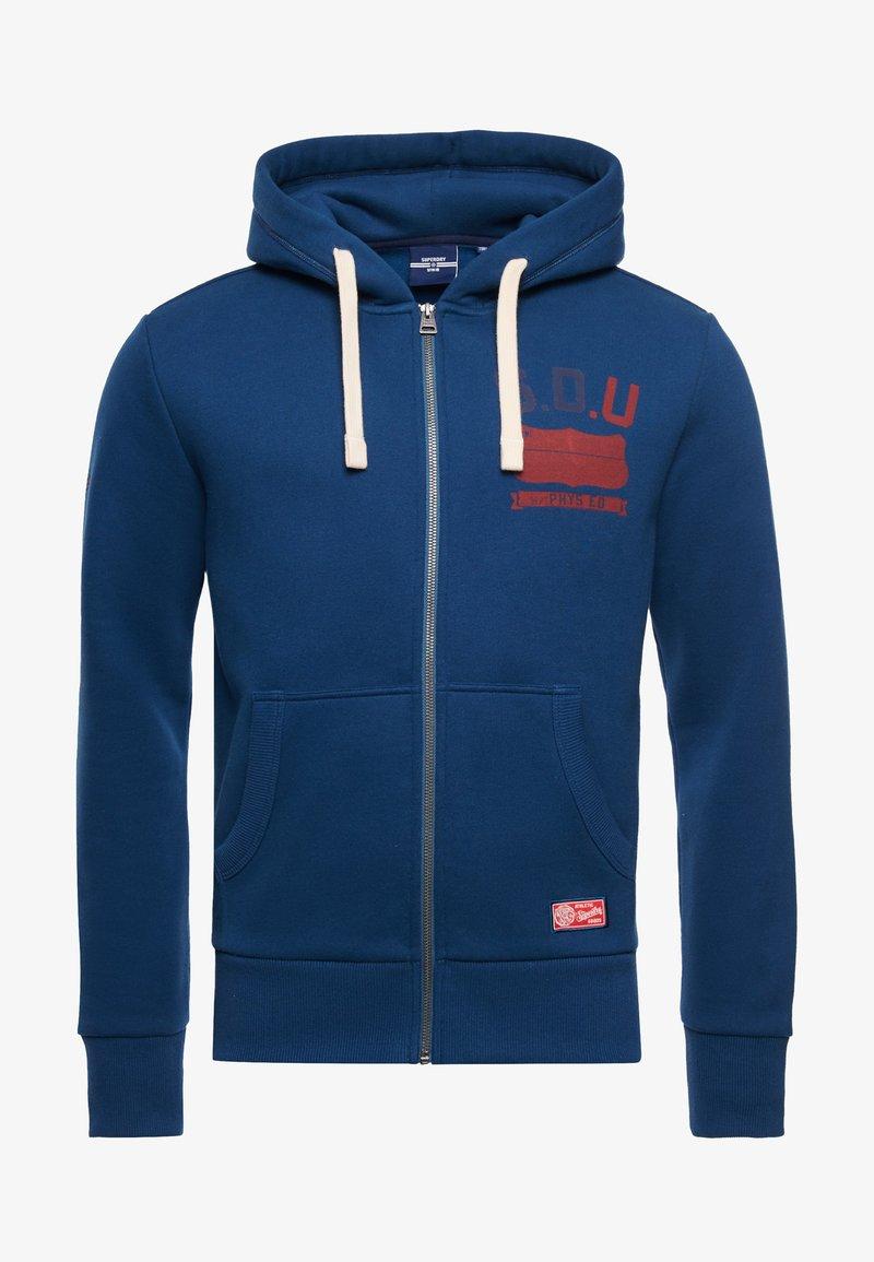 Superdry - Zip-up sweatshirt - blue bottle