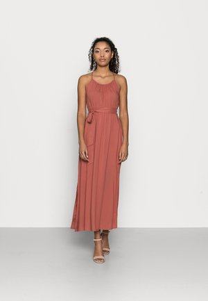 VMSIMPLY EASY SLIT MAXIDRESS - Day dress - marsala