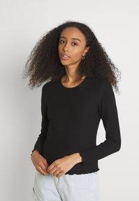 ONLY - ONLNELLA O NECK - Long sleeved top - black - 0