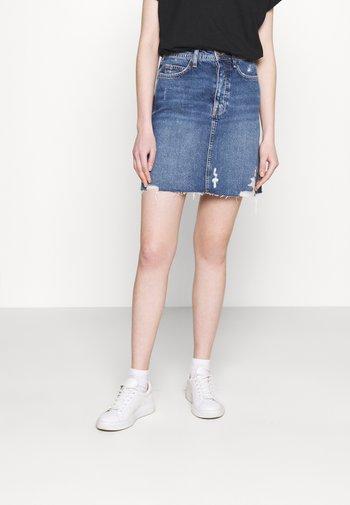 Mini skirt -  light blue denim