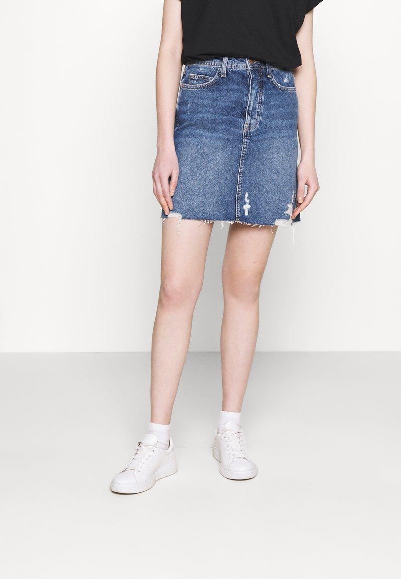 Even&Odd - Mini skirt -  light blue denim