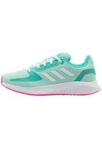 adidas Performance - RUNFALCON 2.0 UNISEX - Neutral running shoes - clear mint/footwear white/acid mint - 0