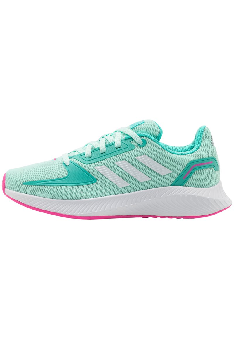 adidas Performance - RUNFALCON 2.0 UNISEX - Neutral running shoes - clear mint/footwear white/acid mint