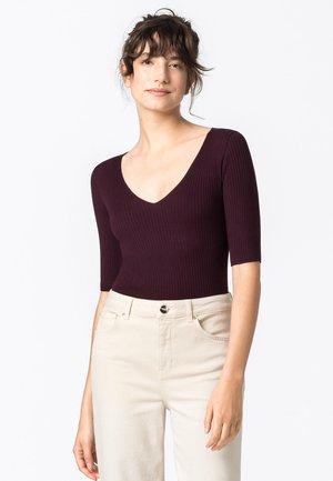 T-shirt imprimé - burgunder