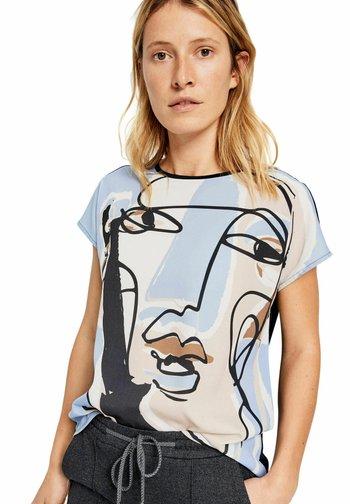 SANOSI  - Print T-shirt - bleu