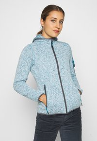 CMP - WOMAN JACKET FIX HOOD - Fleecejacke - danubio melange/graffite - 0