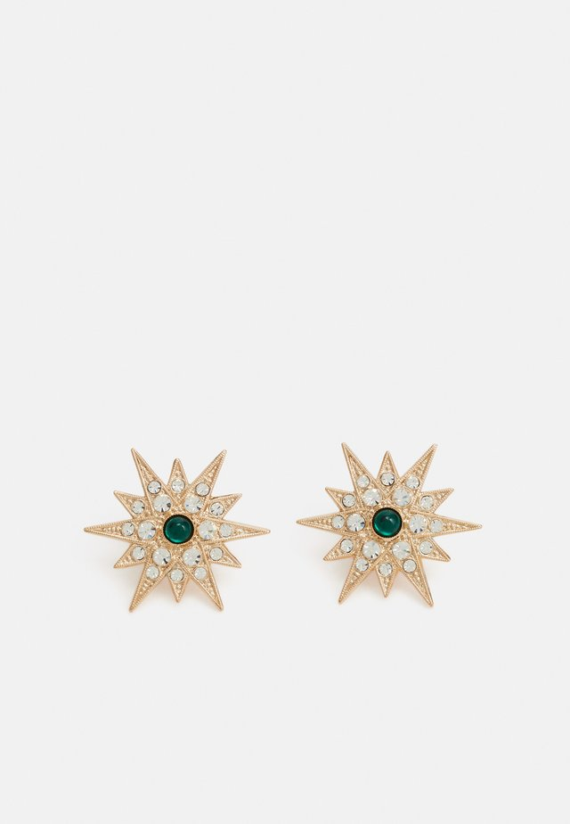 POST STARS - Pendientes - green/gold-coloured
