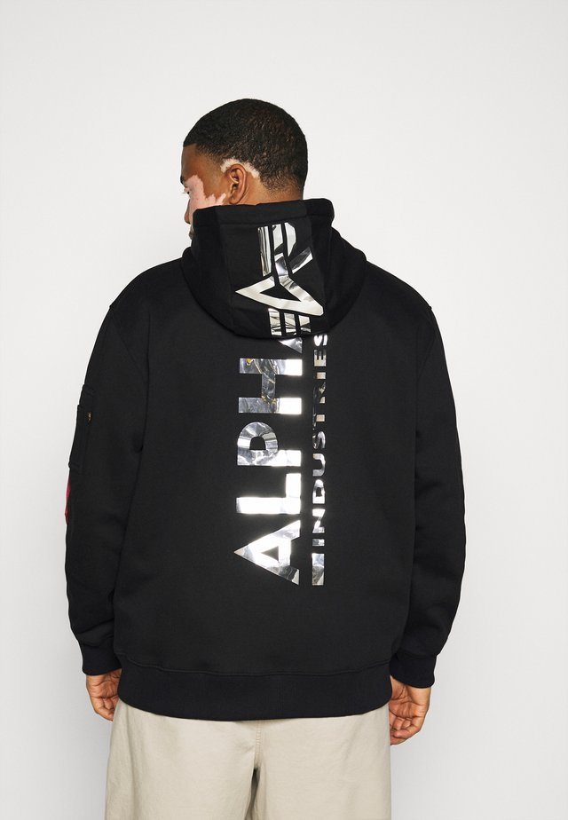 BACK PRINT HOODY PRINT - Luvtröja - black chrome