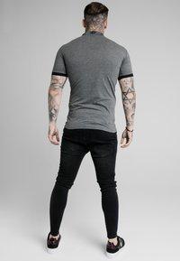 SIKSILK - OLD ENGLISH INSET - Poloshirt - dark grey marl - 2