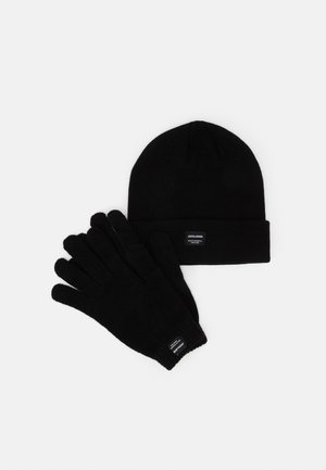 JACBEANIE GLOVE GIFTBOX SET - Fingervantar - black