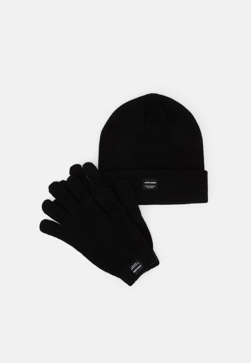 Jack & Jones - JACBEANIE GLOVE GIFTBOX SET - Gloves - black