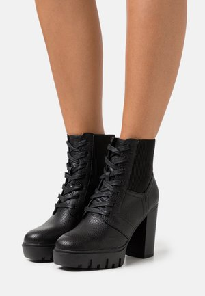 BLAST BEATIE UPDATE - Lace-up ankle boots - black