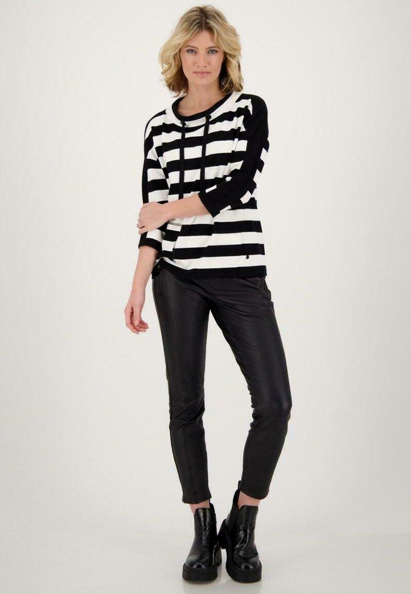 Monari - Sweatshirt - schwarz ringel