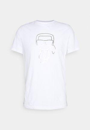 CREWNECK - T-Shirt print - white/silver