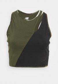 New Balance - ACHIEVER PRINTED COLLIDE CROP - Top - oak leaf green - 3