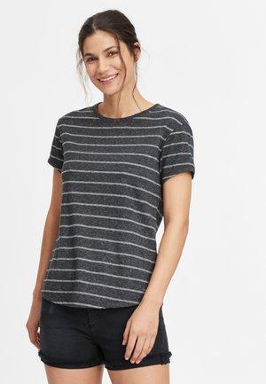 Print T-shirt - black with white