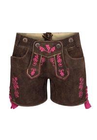 Almsach - Leather trousers - braun - 2