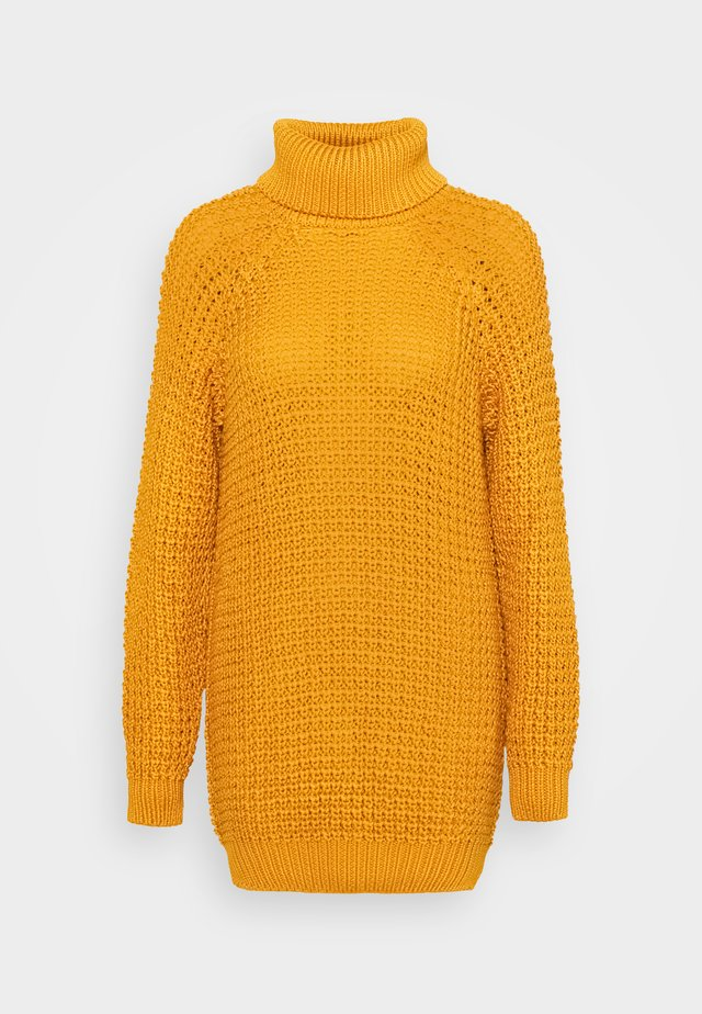 SWEATER OSLO - Strikket kjole - golden yellow