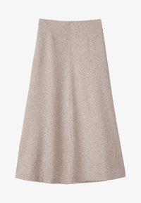 Massimo Dutti - A-line skirt - beige - 5