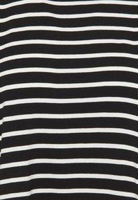 NAF NAF - EPAULETTE RAYE - Print T-shirt - noir/ecru - 2