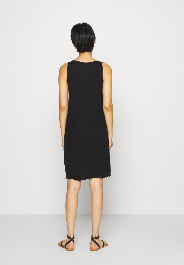 DRESS AMERICAN NECK - Jersey dress - deep black