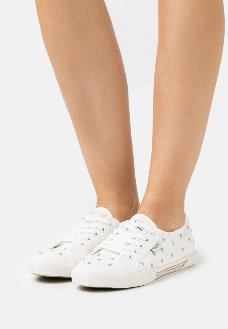 Pepe Jeans - ABERLADY SWEET - Trainers - offwhite