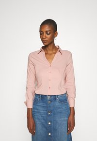 More & More - BASIC BLOUSE - Button-down blouse - pastel rose - 0