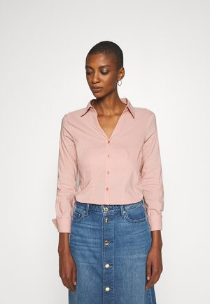BASIC BLOUSE - Button-down blouse - pastel rose