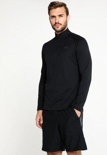Long sleeved top - black/charcoal