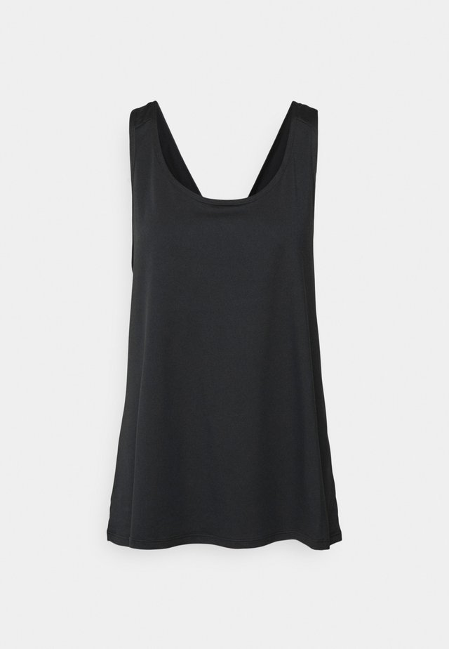CROSS BACK VEST CURVE - Top - black