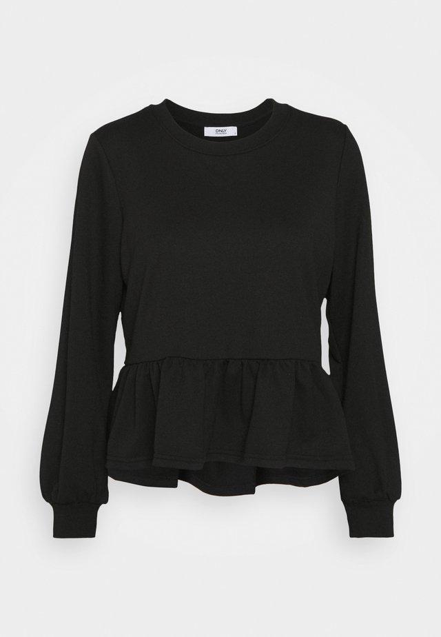 ONLAMY FLOUNCE - Sweatshirt - black