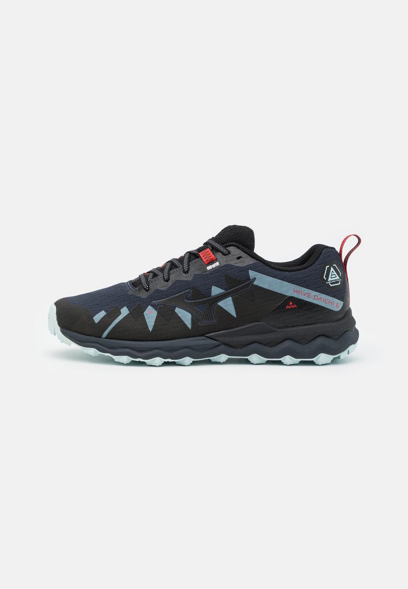 Mizuno - WAVE DAICHI 6 - Trail running shoes - india ink/black/ignition red