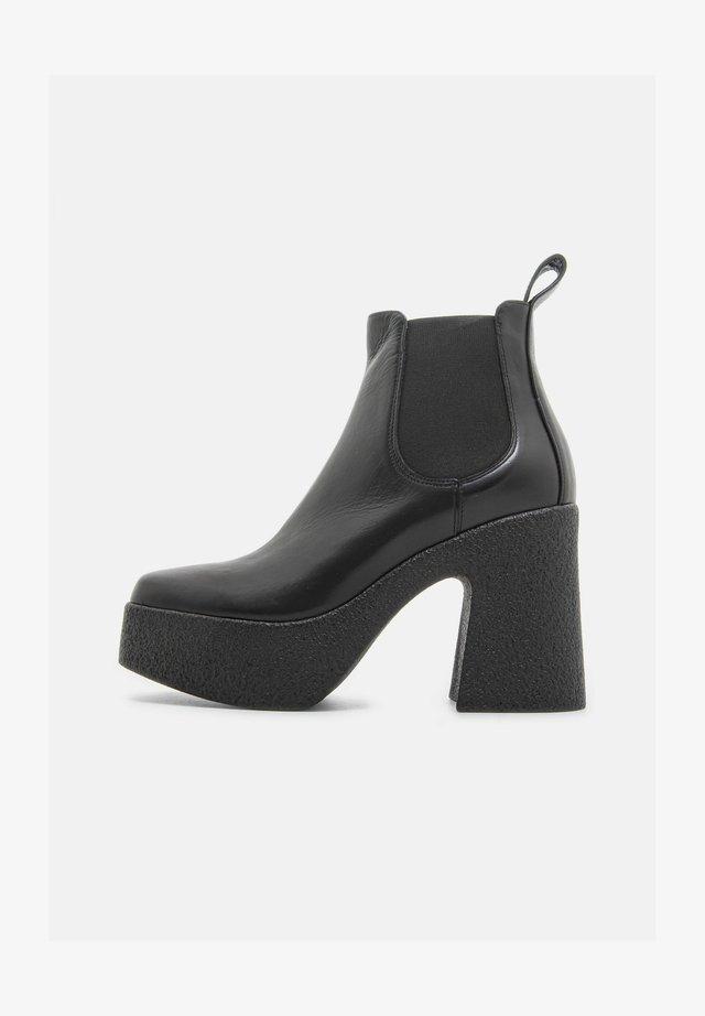 CALZ. DONNA VITELLO - High heeled ankle boots - nero