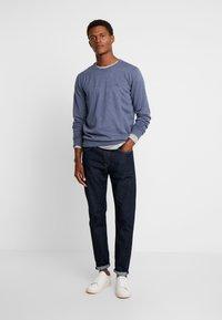 TOM TAILOR - Stickad tröja - vintage indigo blue melange - 1