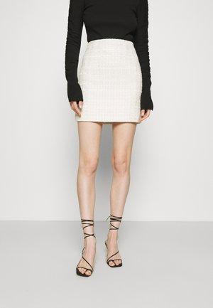 TAKE THE LEAD SKIRT - Miniskjørt - ivory tweed