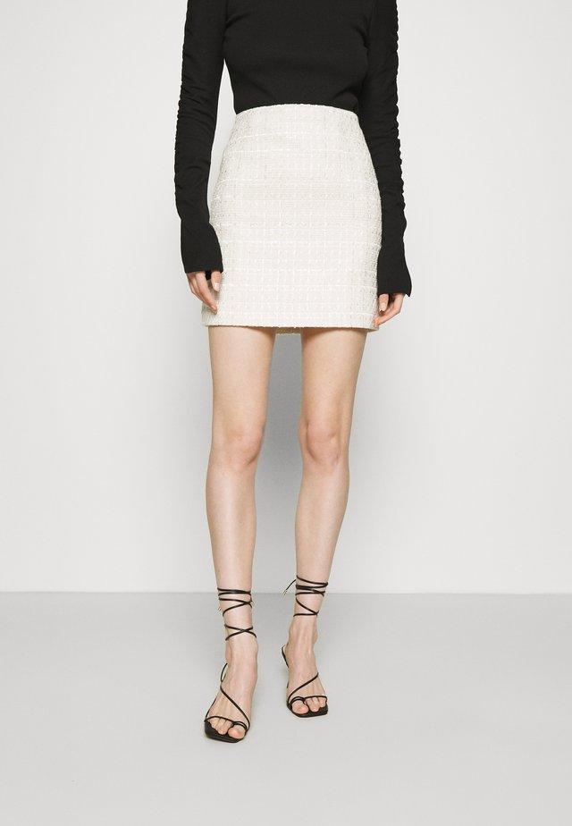 TAKE THE LEAD SKIRT - Mini skirt - ivory tweed