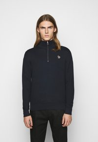 PS Paul Smith - MENS ZIP NECK ZEBRA - Jumper - dark blue - 0