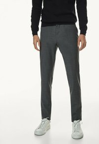 Massimo Dutti - CASUAL FIT - Trousers - grey - 0