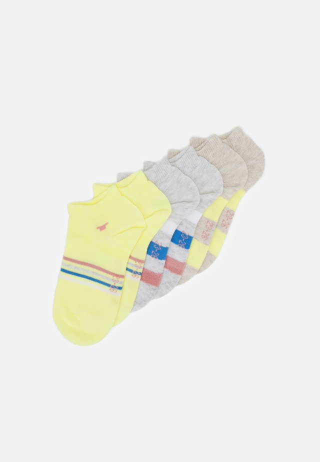 COLORFUL STRIPE SNEAKER 6 PACK - Socks - yellow cream