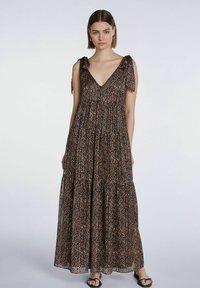 SET - Maxi dress - dark brown camel - 0